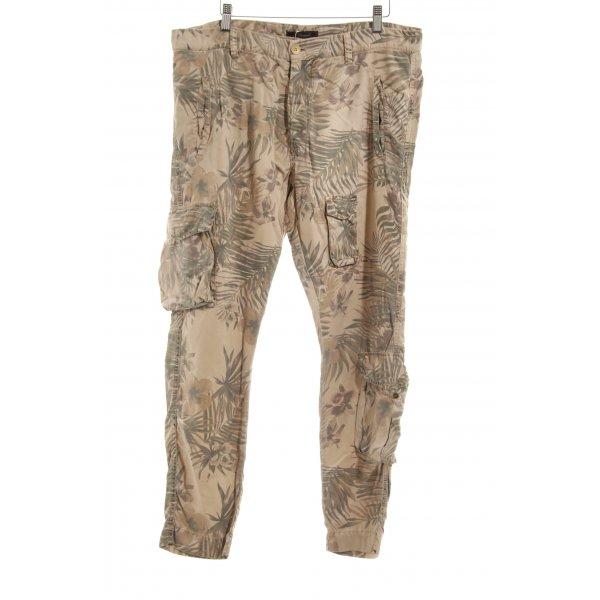 Mason's Stoffhose florales Muster Military-Look