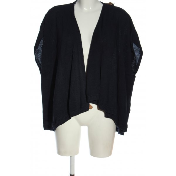Massimo Dutti Strick Cardigan blau Casual-Look