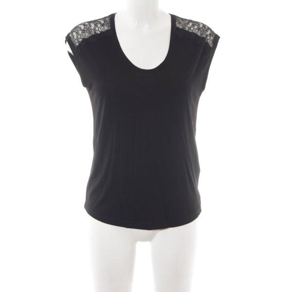 Massimo Dutti T-Shirt schwarz Casual-Look