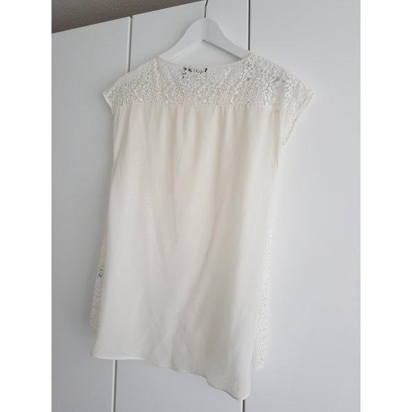 Massimo Dutti Tshirt Spitzentshirt 36 creme