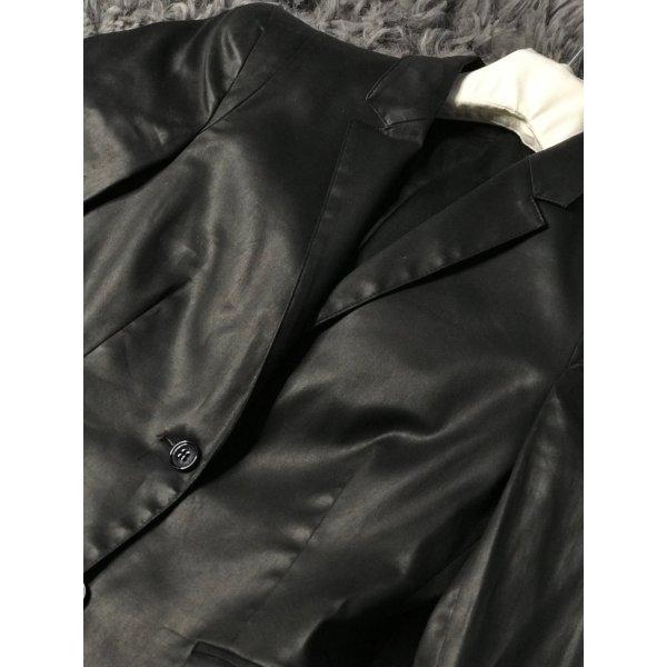 Mauro Grifoni Jacket aus schwarzer beschichteter Baumwolle