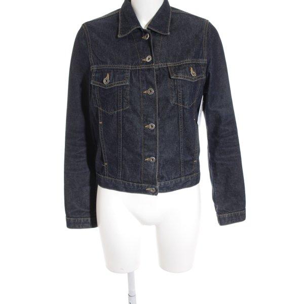 Mavi Jeansjacke graublau-dunkelblau Biker-Look