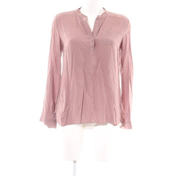 Mavi Stehkragenbluse pink Casual-Look