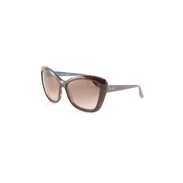 Max & Co. Butterfly Brille schwarzbraun Punktemuster schlichter Stil