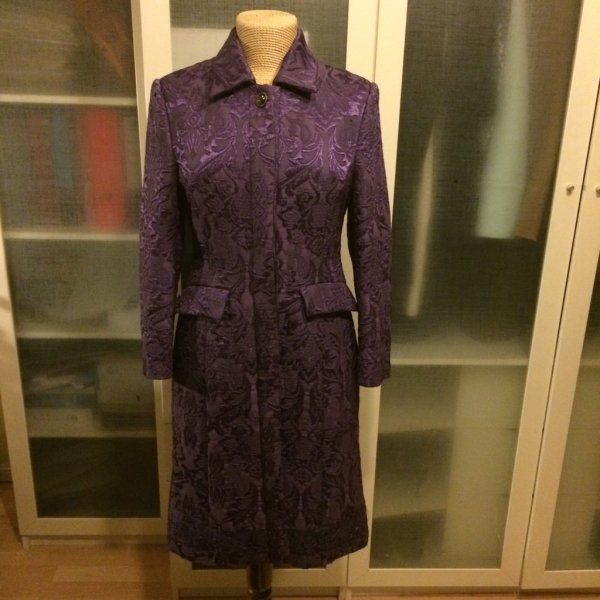 Max Mara Frock Coat dark violet