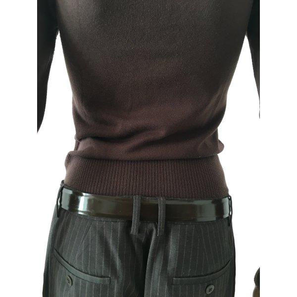 Max Mara Leather Belt dark brown