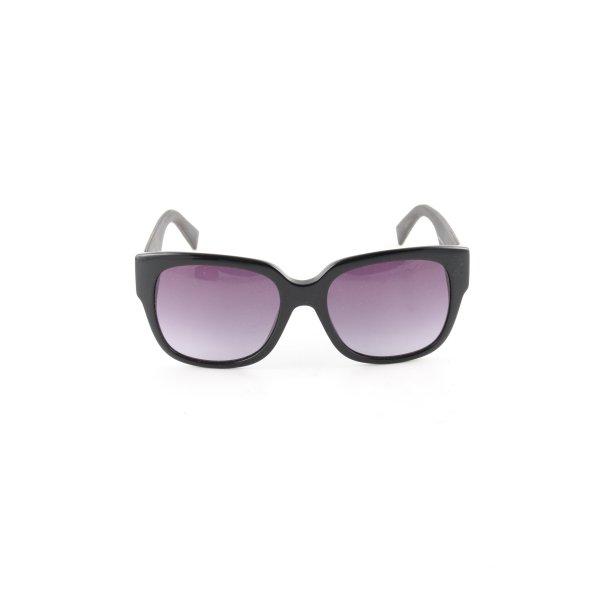Max Mara ovale Sonnenbrille schwarz-lila Farbverlauf Business-Look
