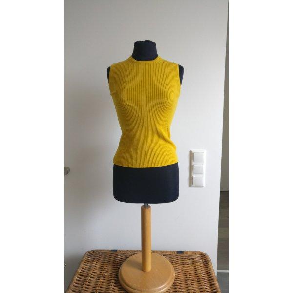 Max Mara Top con colletto arrotolato giallo