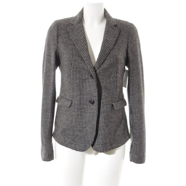 MaxMara Weekend Woll-Blazer dunkelgrau-grau Hahnentrittmuster klassischer Stil