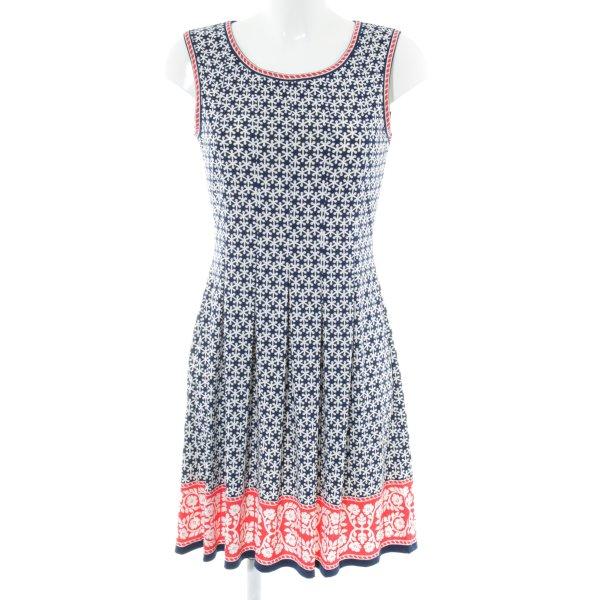 MaxStudio A-Linien Kleid Allover-Druck Casual-Look