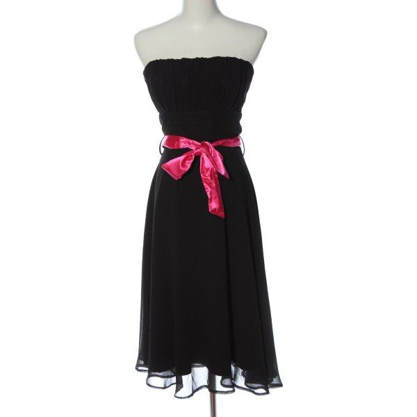 Mayaadi schulterfreies Kleid schwarz-pink Elegant