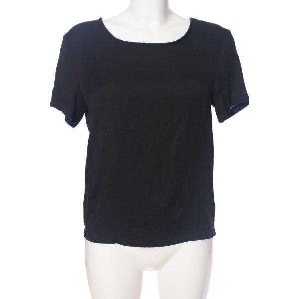 mbyM Kurzarm-Bluse schwarz Casual-Look