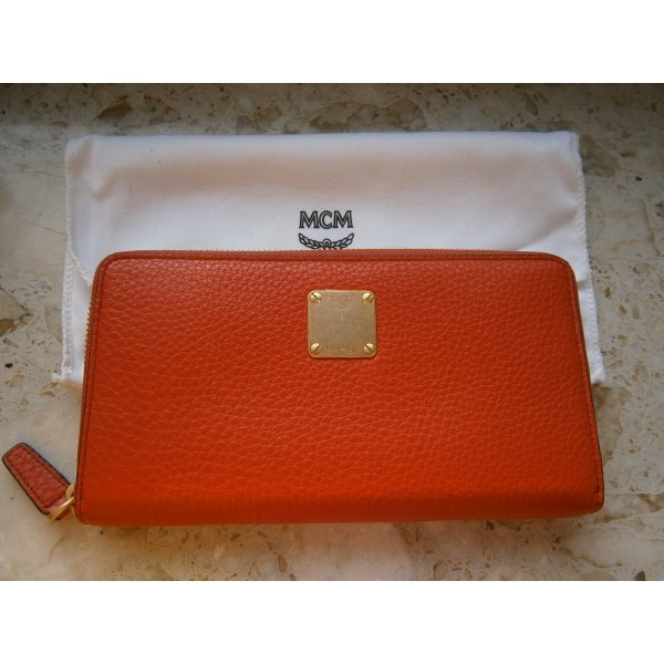 MCM Wallet red leather
