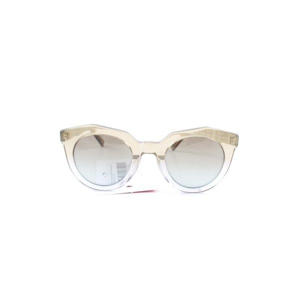 MCM eckige Sonnenbrille himmelblau-ocker Street-Fashion-Look