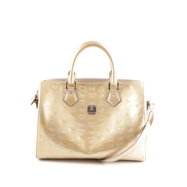 MCM Handbag gold-colored allover print casual look