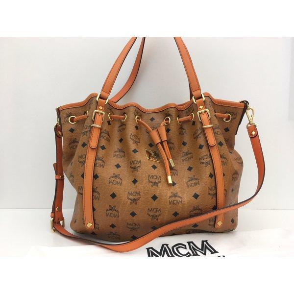 MCM Shoulder Bag cognac-coloured leather