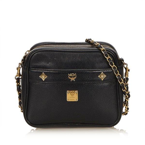 MCM Leather Chain Crossbody Bag
