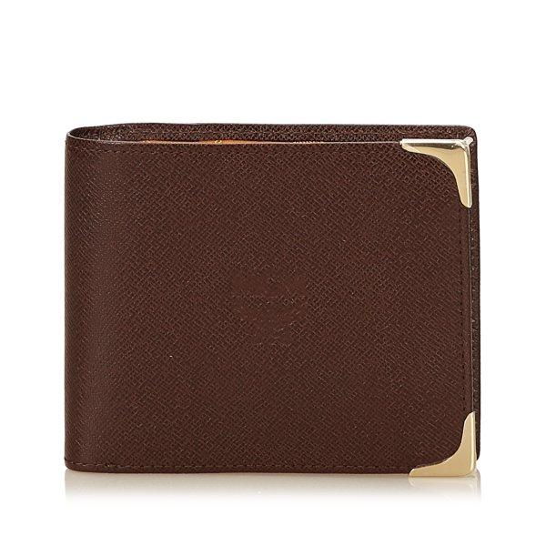 MCM Wallet dark brown leather