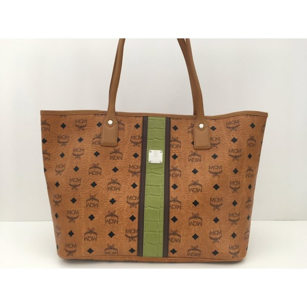MCM Shopper brown-green leather