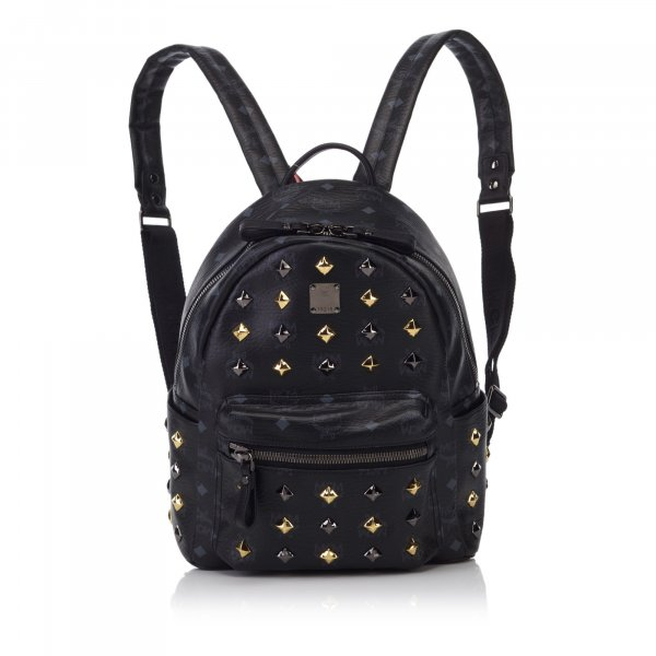 MCM Studded Leather Stark Backpack