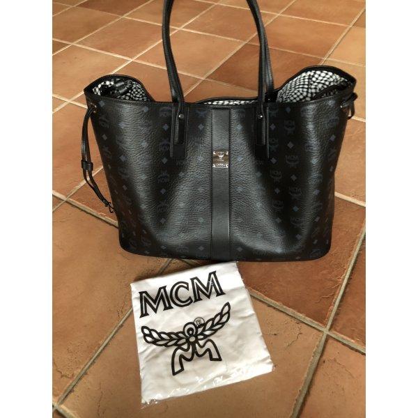 MCM Shopper noir cuir