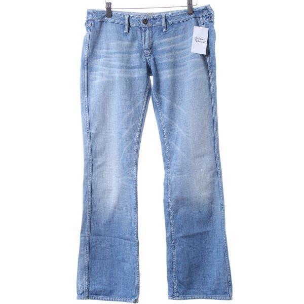 Meltin Pot Boot Cut Jeans hellblau-wollweiß Casual-Look