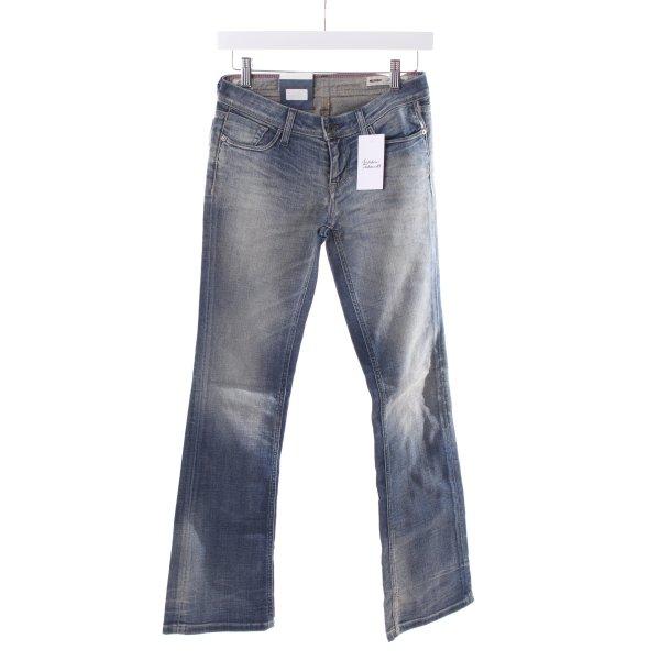 Meltin pot Jeansschlaghose hellblau Casual-Look