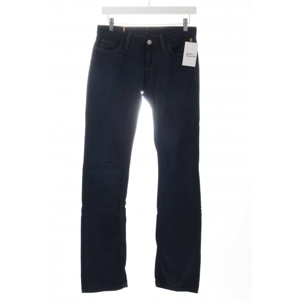 Meltin Pot Straight-Leg Jeans dunkelblau Logo-Applikation aus Leder