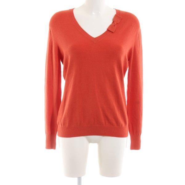 Melvin V-Ausschnitt-Pullover rot Casual-Look