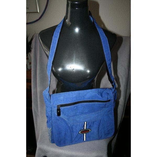 Messenger Bag / Kuriertaschen - Stylische Überschlagtasche in blau
