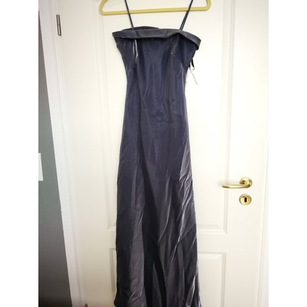 metallic graues Abendkleid