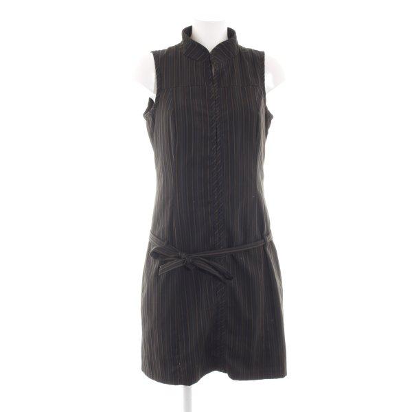 Mexx Robe chemise noir-brun motif rayé style décontracté