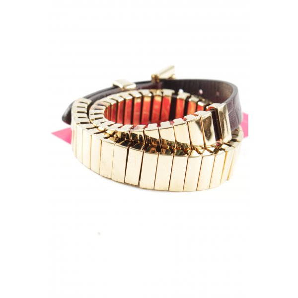 Michael Kors Armband braun-goldfarben Animalmuster Casual-Look