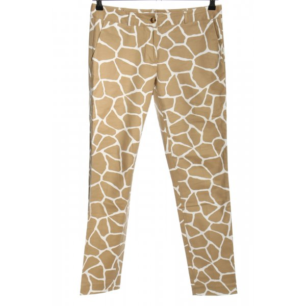 Michael Kors Chinohose creme-weiß Allover-Druck Casual-Look