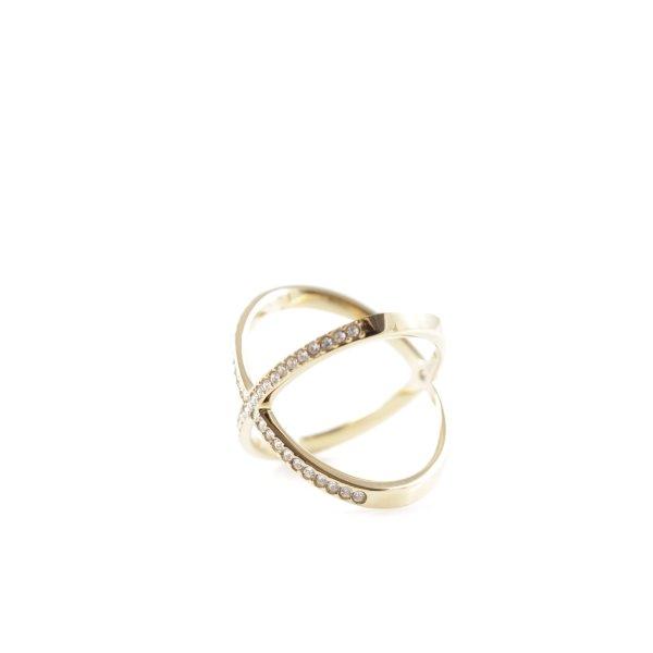 Michael Kors Goldring goldfarben-silberfarben Elegant