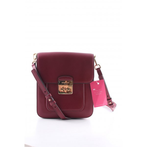 "Michael Kors Handtasche ""LG NS Messenger Bag Mulberry"" bordeauxrot"