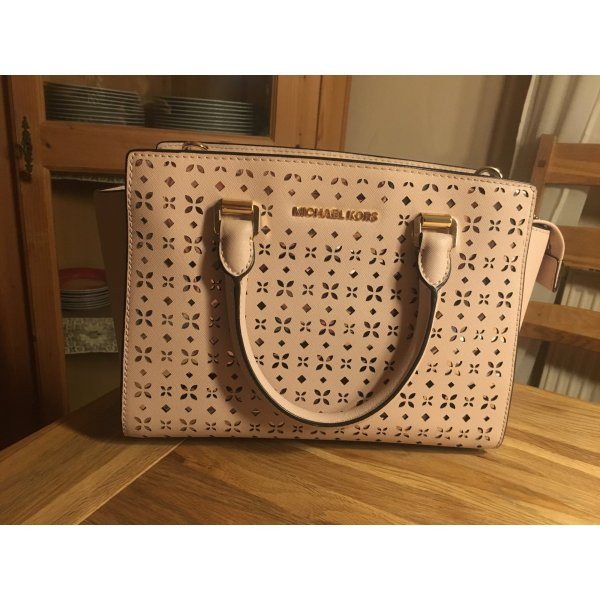 Michael Kors Carry Bag dusky pink leather