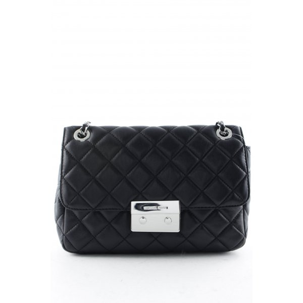 Michael Kors Carry Bag black check pattern business style