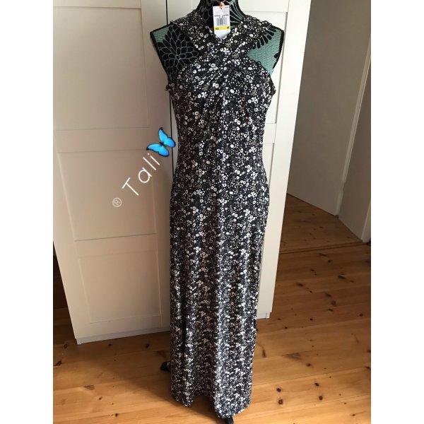 Michael Kors Kleid lang Floral Olive Khaki Weiss M 38 8