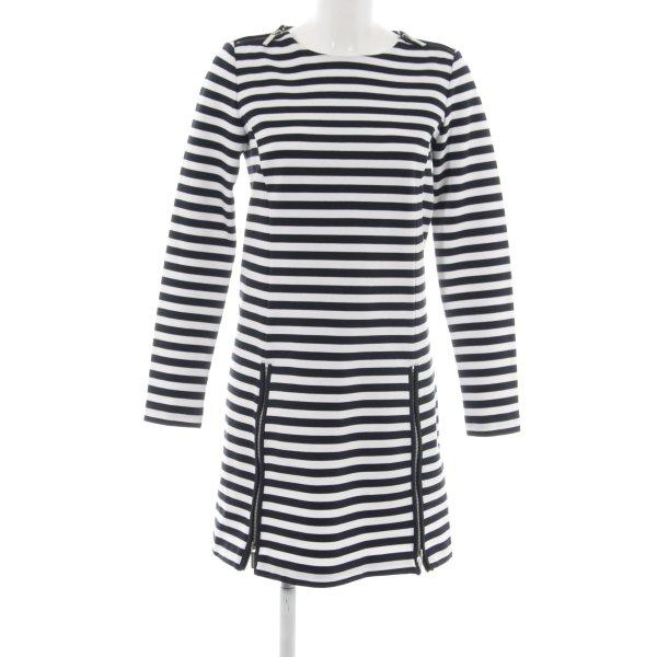 Michael Kors Langarmkleid schwarz-weiß Streifenmuster schlichter Stil