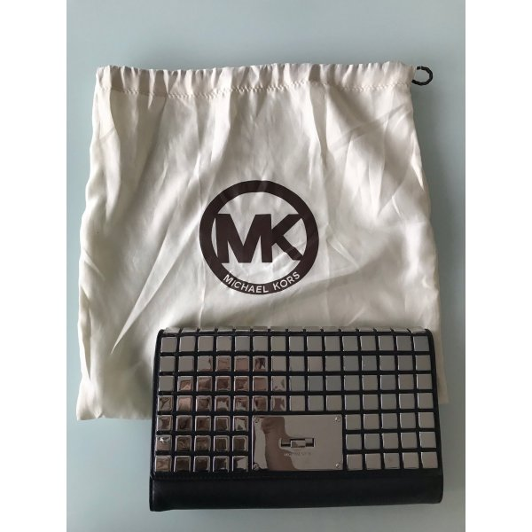 Michael Kors Clutch black-silver-colored leather