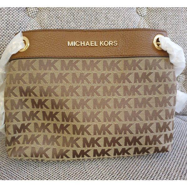 Michael Kors MD Chain Messenger neu braun gold Logo Schultertasche Handtasche