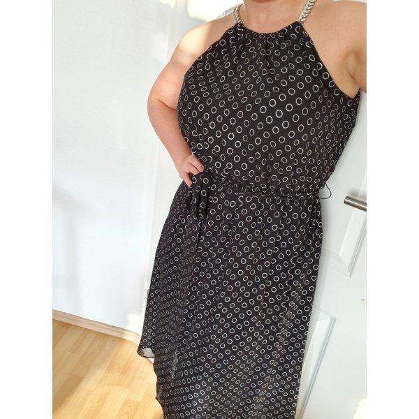 Michael Kors Midikleid neu schwarz silber kleid Sommerkleid Größe S