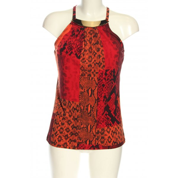 Michael Kors Schlupf-Bluse rot-schwarz Animalmuster Casual-Look