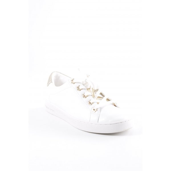 """Michael Kors Schnürsneaker """"Irving Lace Up Sneaker Optic White/Gold"""""""