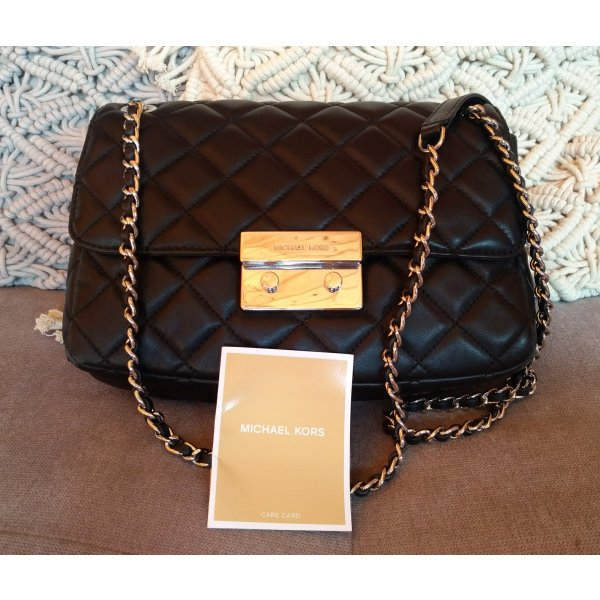 Michael Kors Sloan Large Chain Shoulder Bag Black