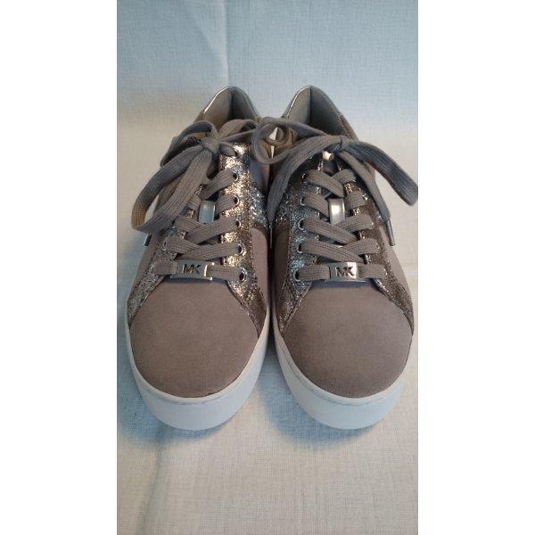 Michael Kors Sneakers Leder Taupe Neu