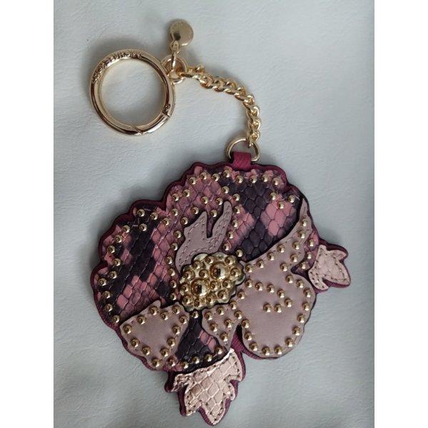 Michael Kors Spring Poppy Leder Schlüsselanhänger Taschenanhänger NEU