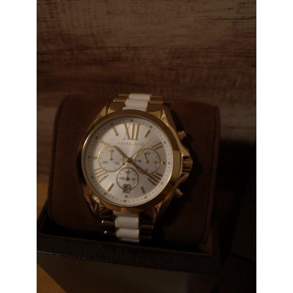 Michael Kors Uhr weiß gold wie neu