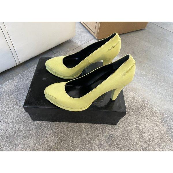Michalsky Schuhe Pumps Gr. 38 Original! Neu! Limette gelb/grün